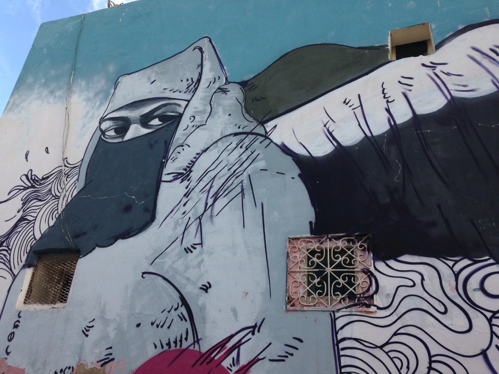 Street art in Casablanca's medina