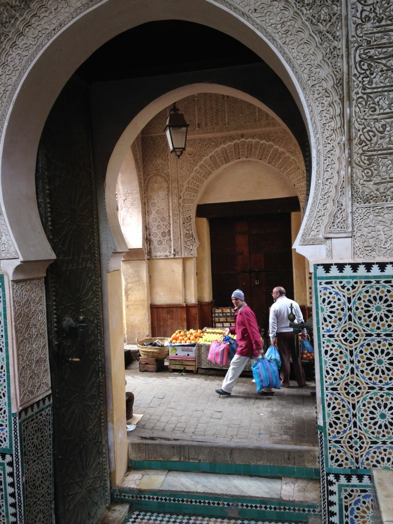 View from the Grand Mosque inside the Fez medina