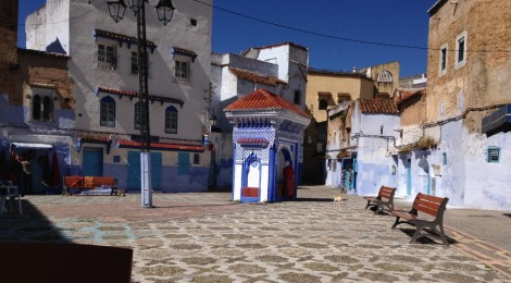 Doing Time in the Plaza el Hauta, Chefchaouen, Morocco