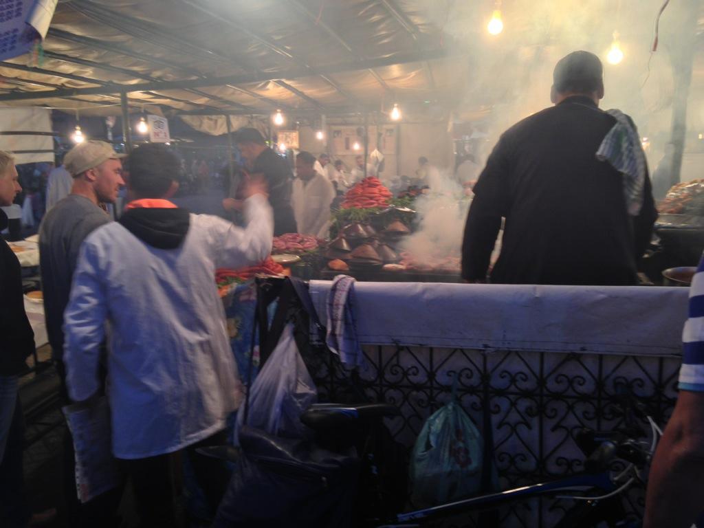 Grill smoke Jamaa El Fna