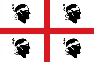 The official Sardinian flag.