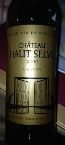 Chateau Haut Selve 2010, a red wine of Bordeaux