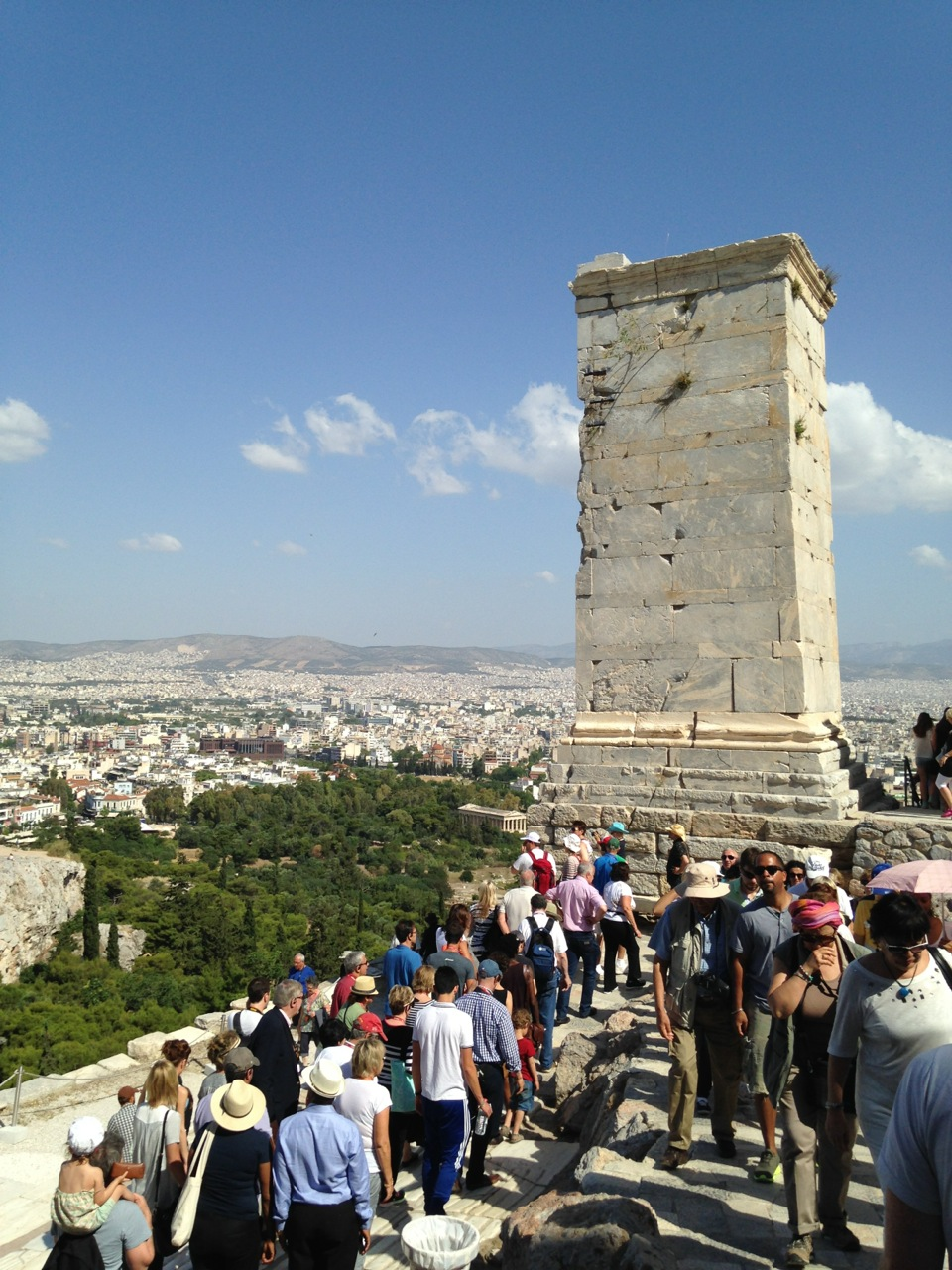 Markus Agrippa monument at the Acropolis in Athens, Greece.