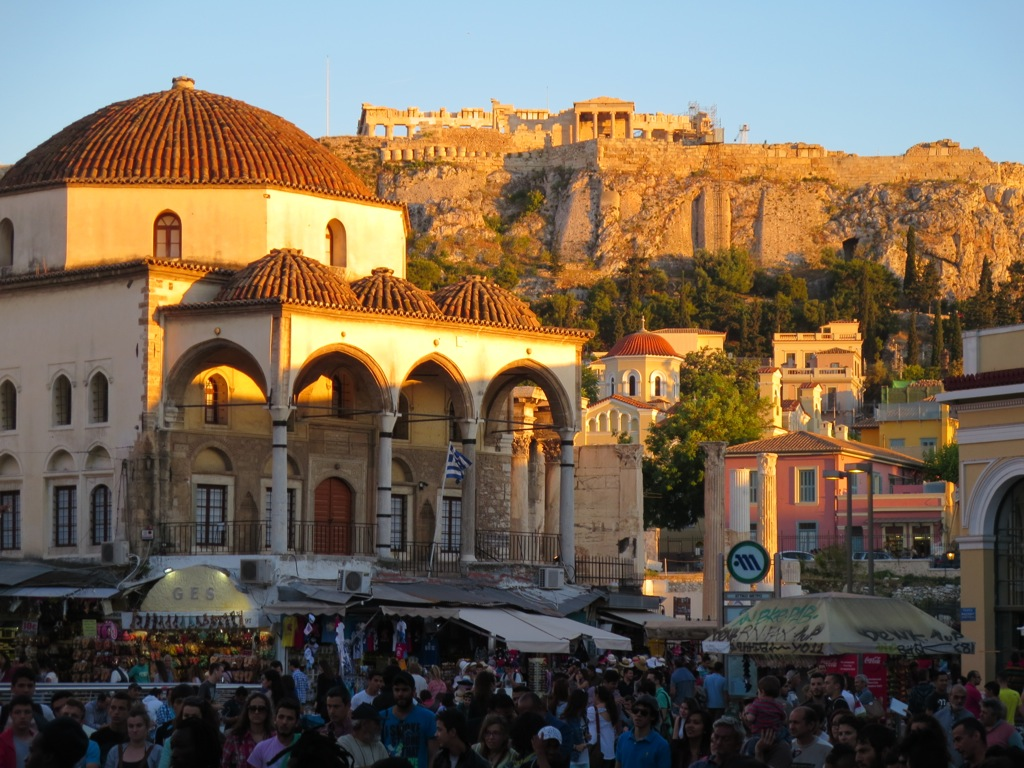 Greek life unfolds in the shadow of the Acropolis
