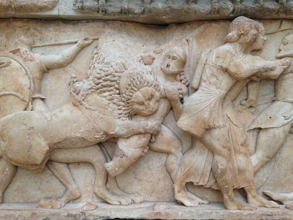 High relief sculpture from ancient Delphi, similar in style to those taken by Lord Elgin from the Parthenon