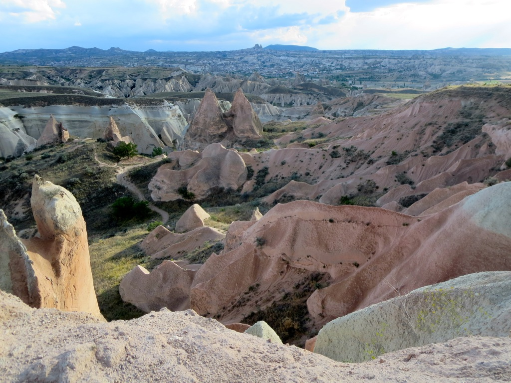 The Cappadocian landscape around Göreme, Turkey