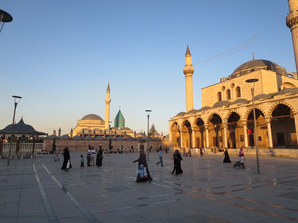 The Mevlana Museum in Konya, where Rumi's tomb now rests, was once a practicing dervish lodge.