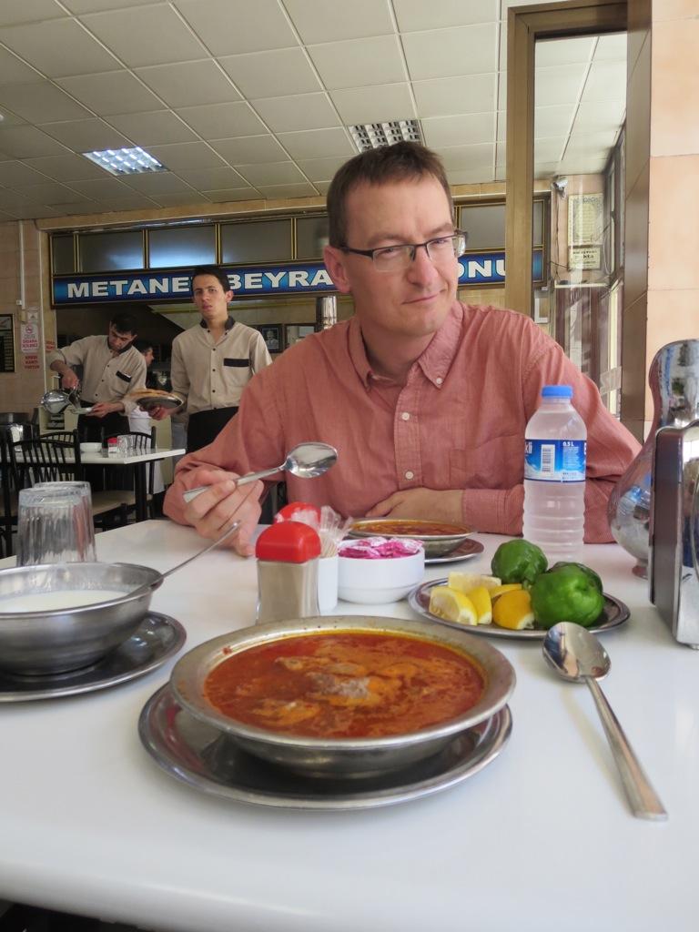 Beyran for breakfast at Matanet Lokantasi Beyran Salonu, Gaziantep, Turkey