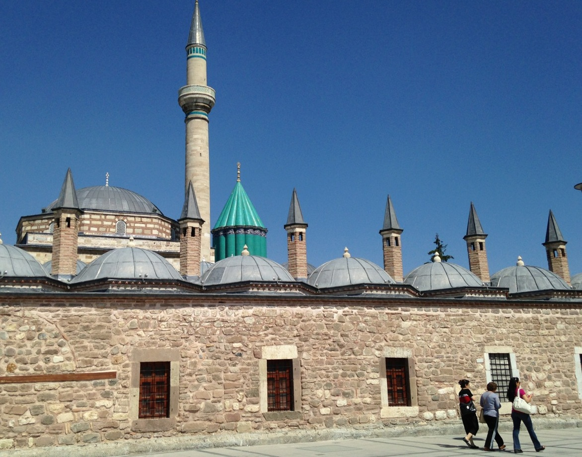 The roof of Rumi's crypt in Konya, Turkey