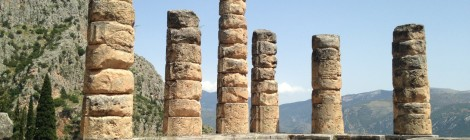The Temple of Apollo in Delphi. The oracle worked here.