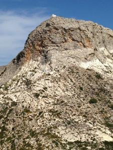A mountaintop chapel on Naxos, Greece.