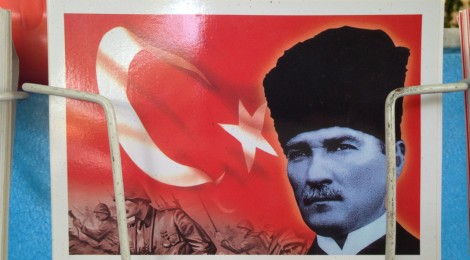A postcard of Ataturk near Chora Church