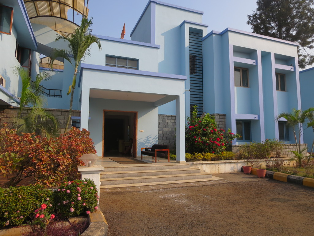 The freshly painted Byrraju Foundation office and guest house, Bhimavaram, India