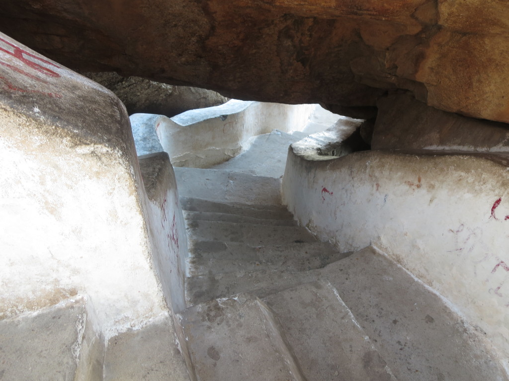 Some of the four hundred and seventy-five steps leading to the Hanuman Temple, Hampi, India.