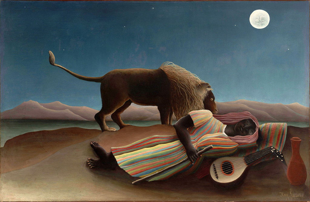 The Sleeping Gypsy, by Henri Rousseau. Source: Wikimedia.org