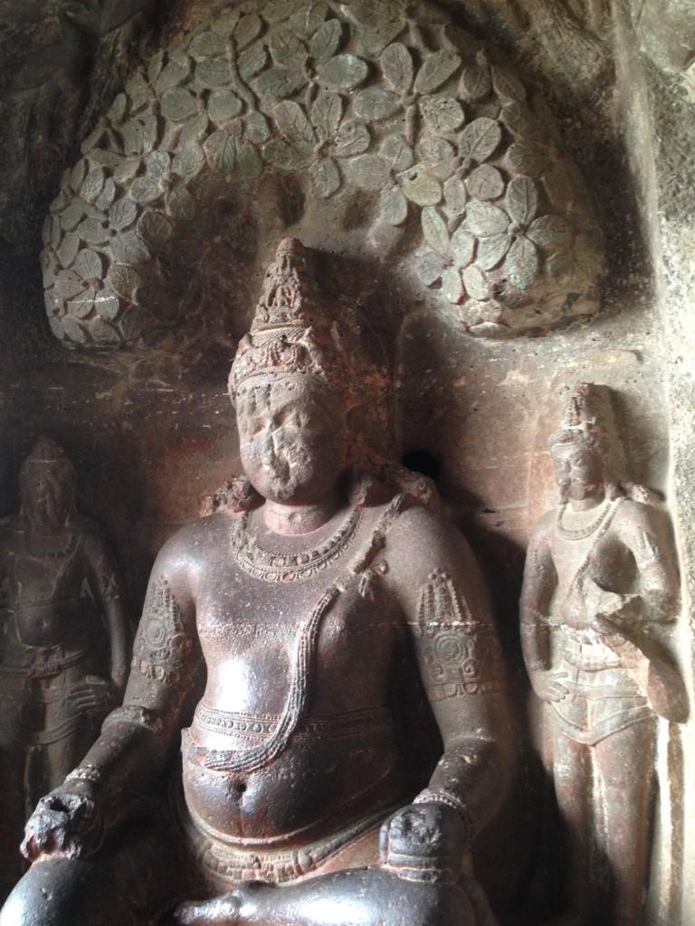 Pot-Bellied Jain Sculpture in Ellora