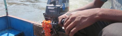 Outboard Motor in Hampi