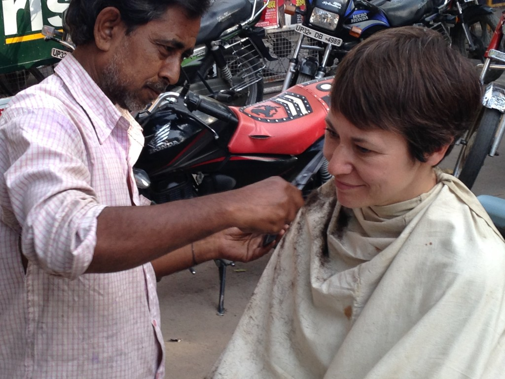 Alison Gets A Haircut In Lucknow