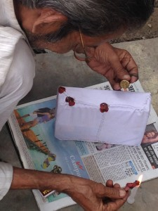 Applying Sealing Wax to a Postal Package, Gorakhpur