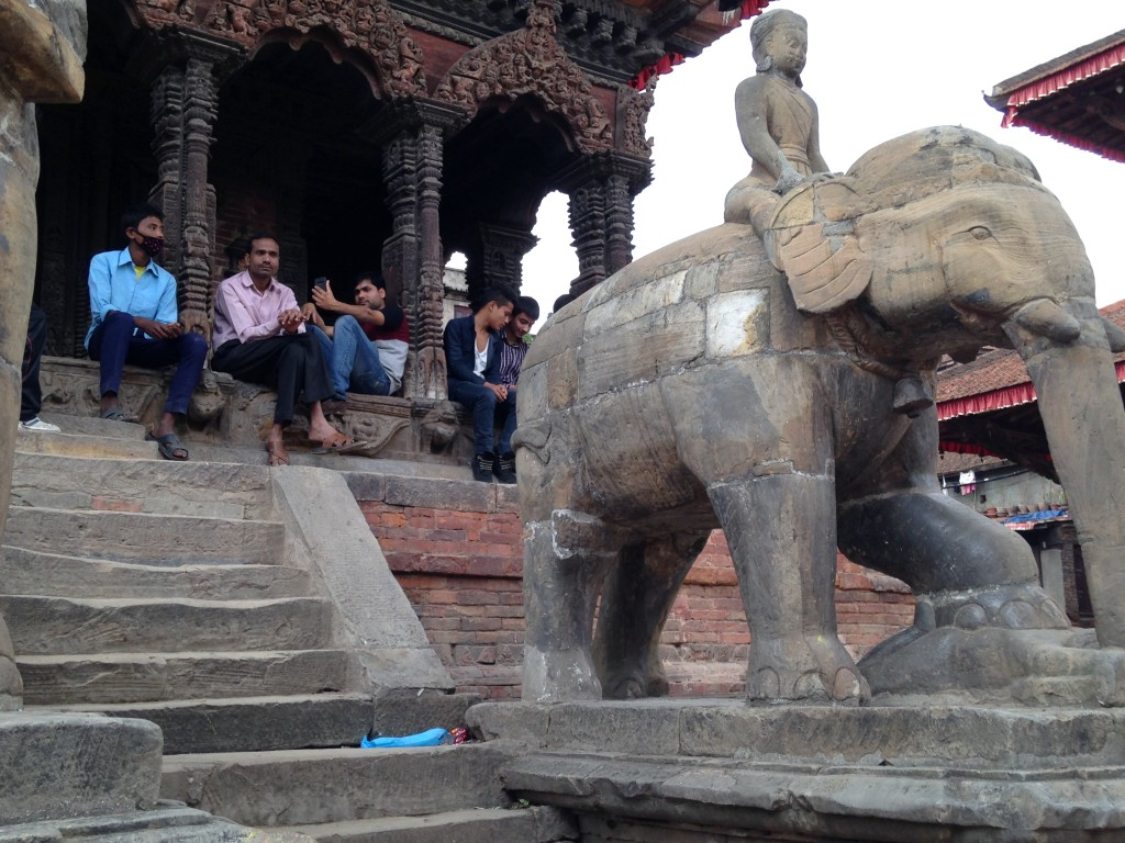 Elephant and Crowd at Patan Durbar Square