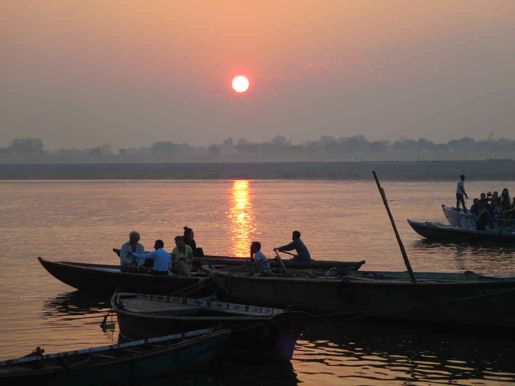 An Orange Sun Over the Ganges