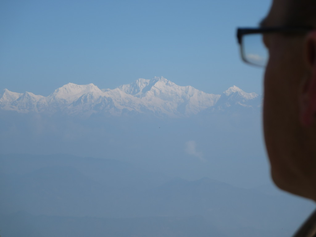 Christopher and the Himalayas meet face to face for the first time.