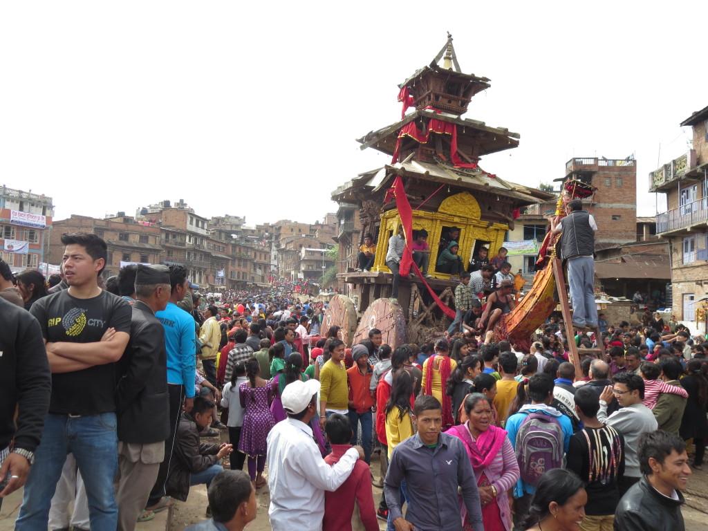 New Year's chariot, Bhaktapur, Nepal.