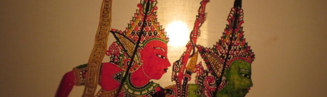 Heroes of the Ramayana Shadow Puppets in Kota Bharu