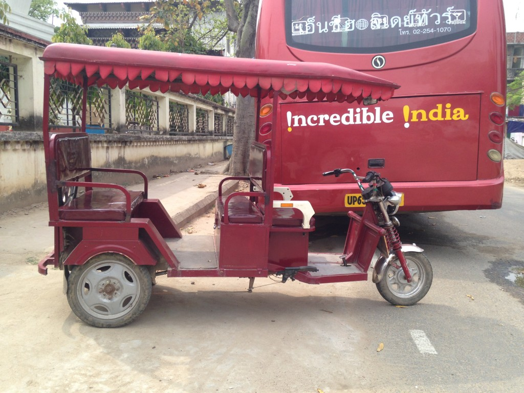 Electric Cycle Rickshaw In Bodhgaya