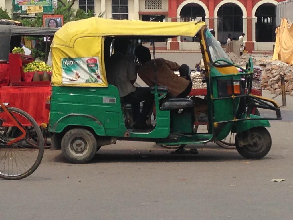 A Green Auto Rickshaw in Gorakhpur