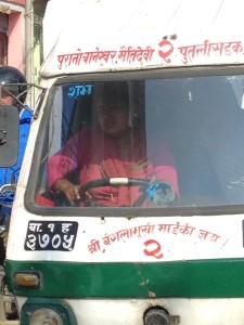 A Female SAFA Tempo Driver in Kathmandu