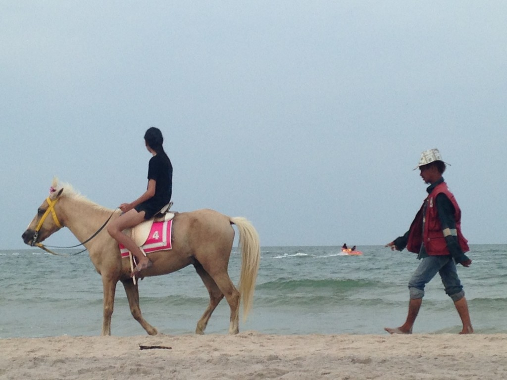 Horse Number Four on Hua Hin Beach