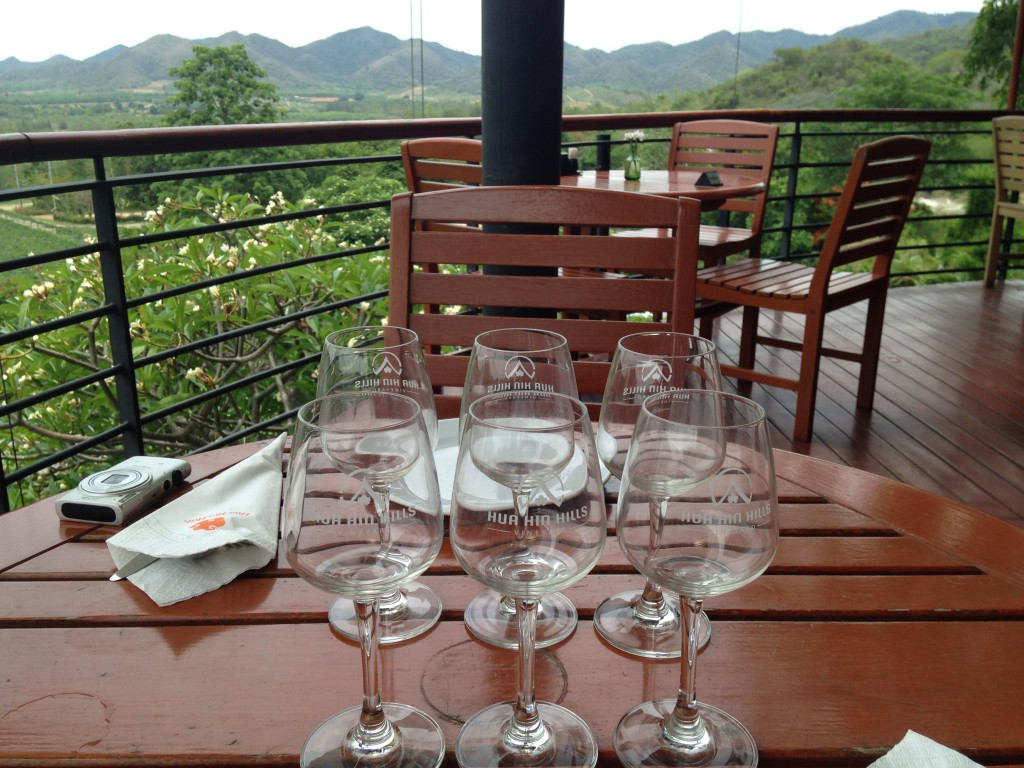 A Place Setting at Hua Hin Hills Vineyard