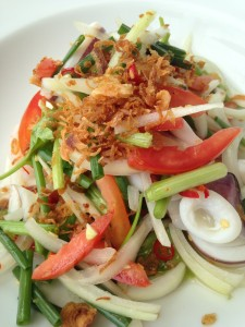 Seafood salad at Hua Hin Hills Vineyard