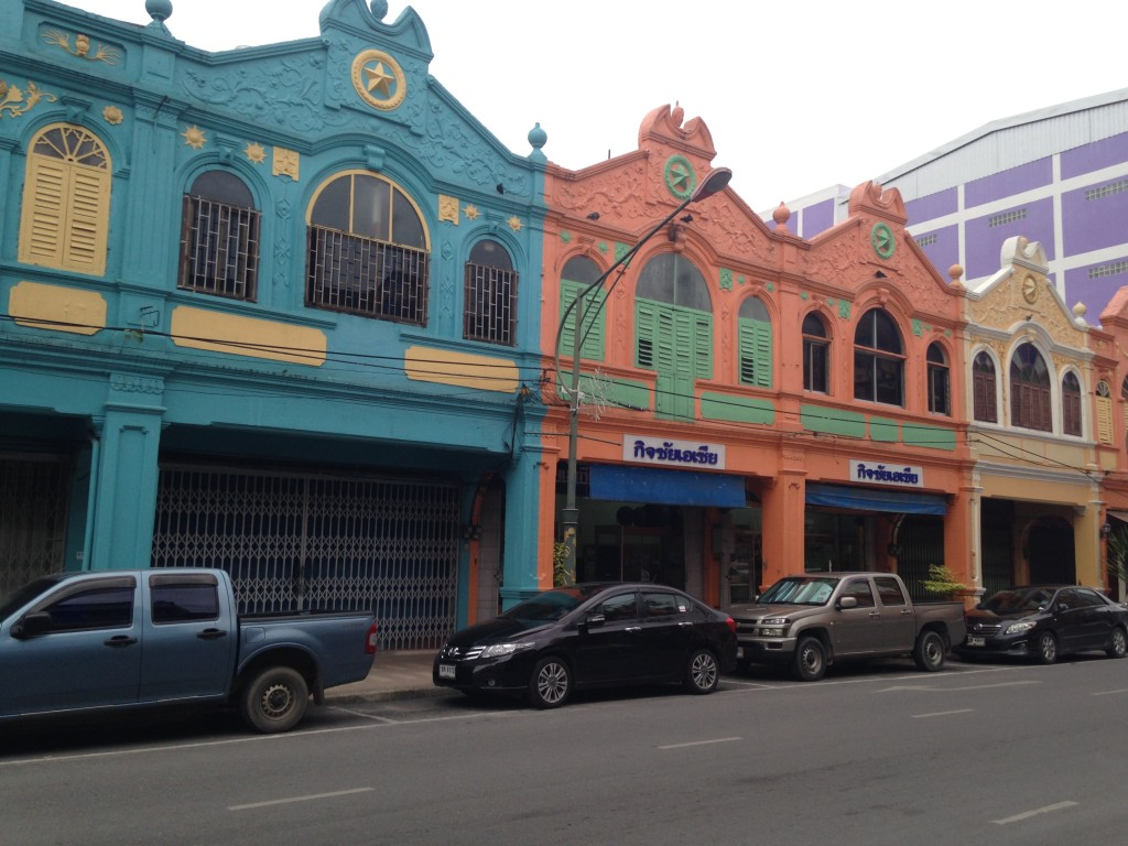 Colorful Commercial Buildings In Hat Yai, Thailand