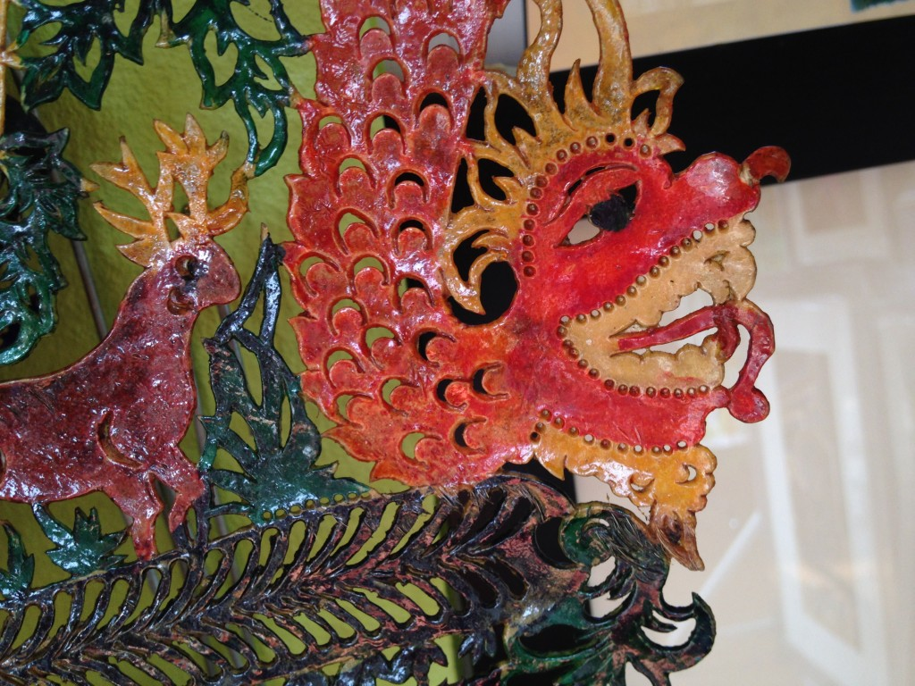A Kelantan Shadow Puppet in the Bright Light of Day