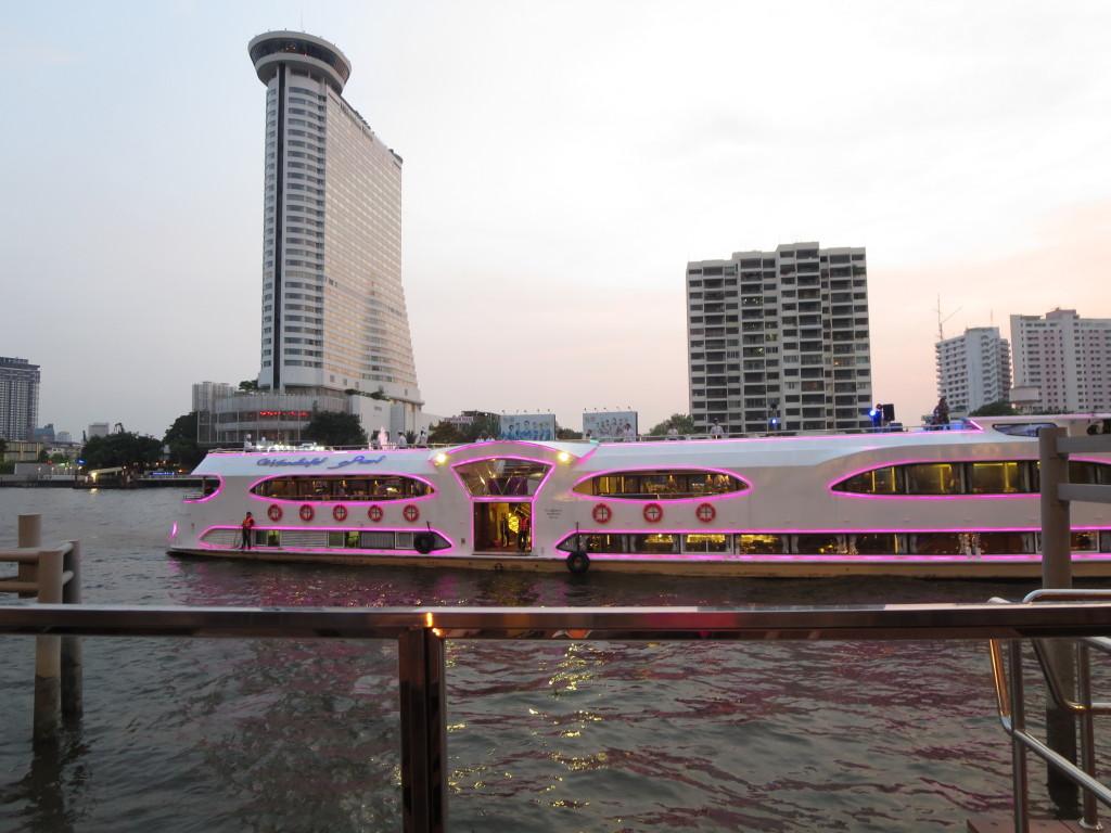 A Bangkok Party Boat Docking Near the Hilton