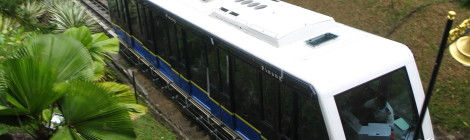 The Penang Hill Train Near the Top End of Its Ru n