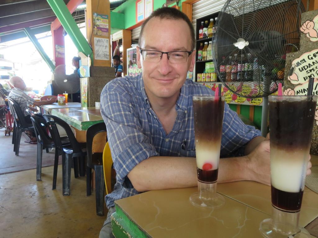 A Three-In-Love Coffee Drink in Kota Bharu, Malaysia