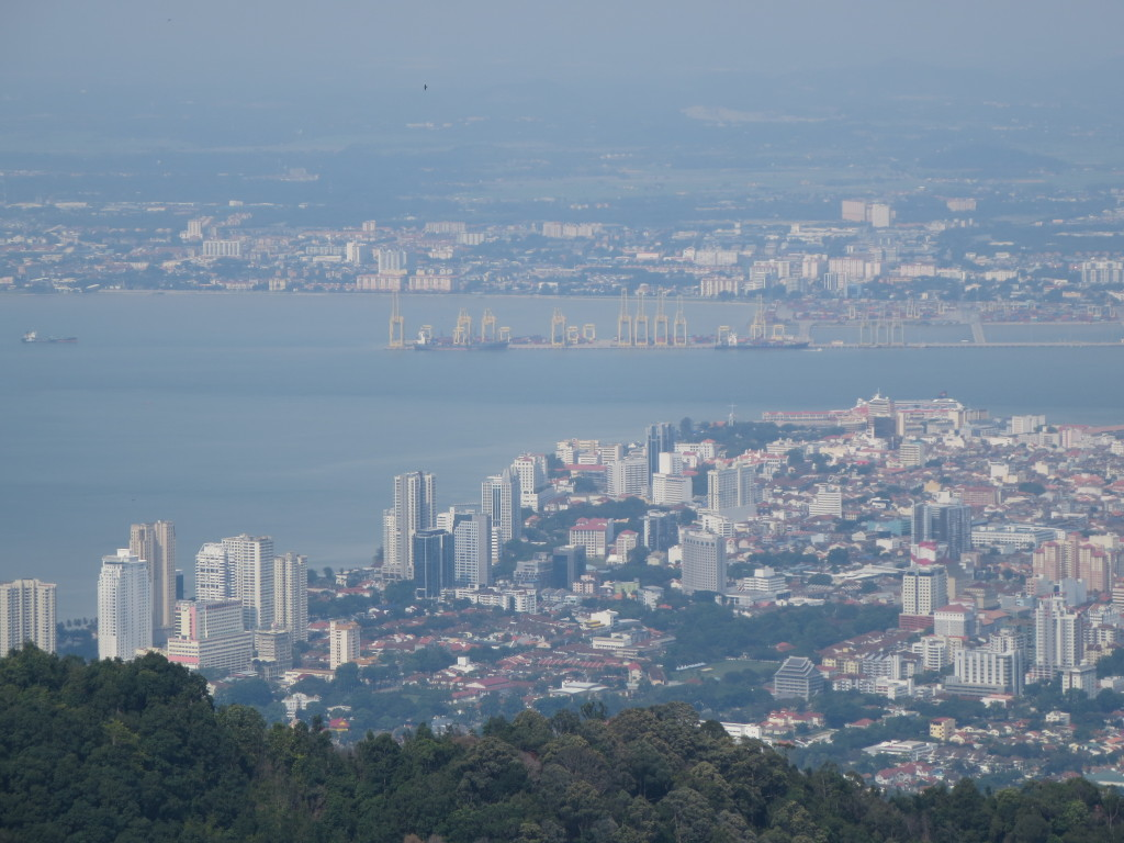George Town and Butterworth from Penang Hill