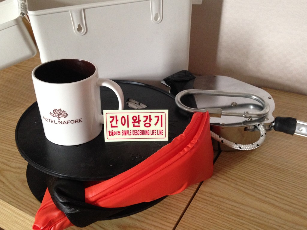 Emergency Repelling Kit From Hotel Nafore In Seoul