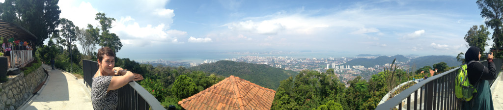 A Panorama from the Top of Penang Hill, Malaysia