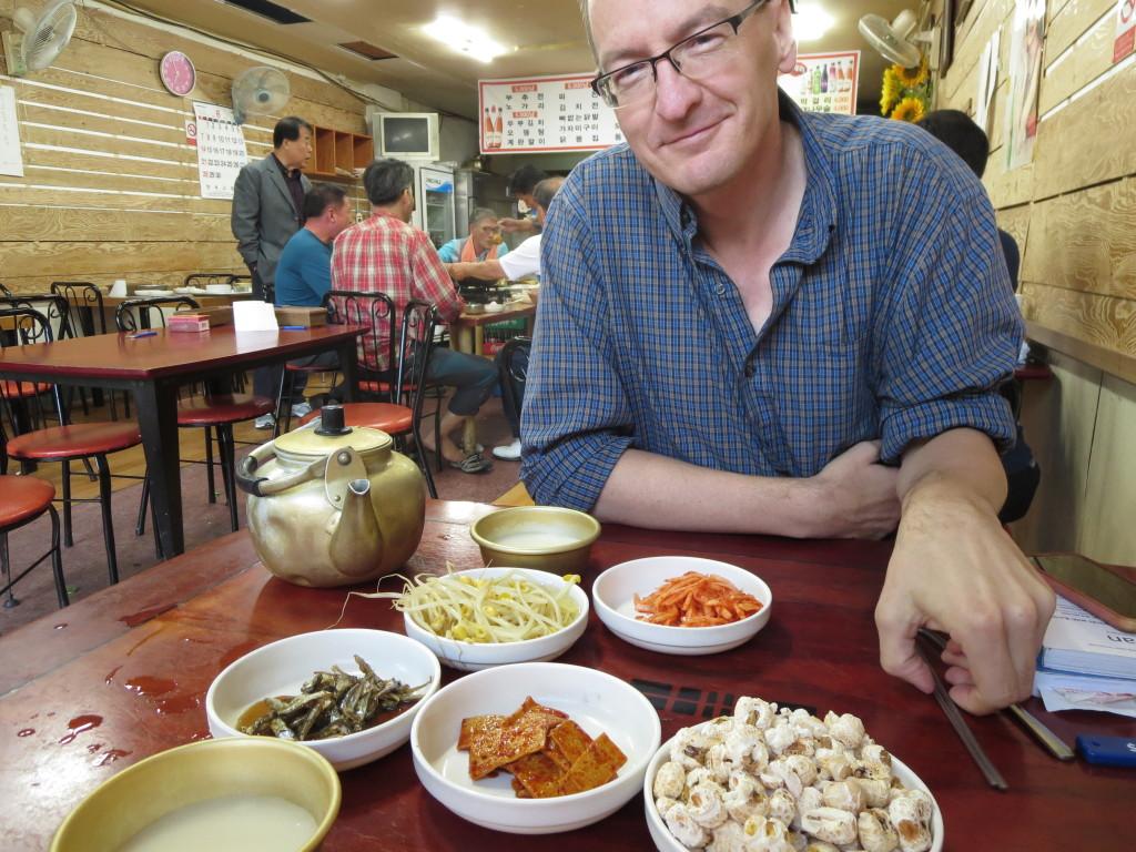 Side dishes at Chundai Makgeoli in Gyeongju, Korea