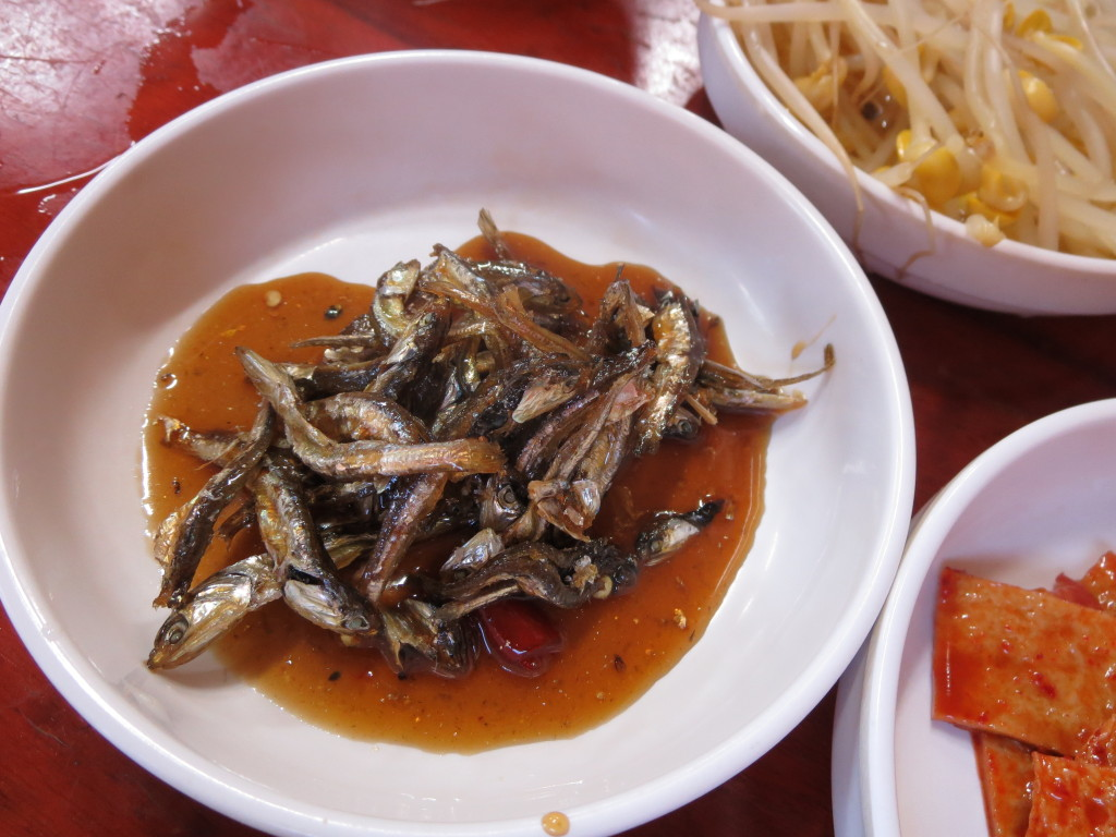 Bowl of fish in a Gyeongju, Korea restaurant