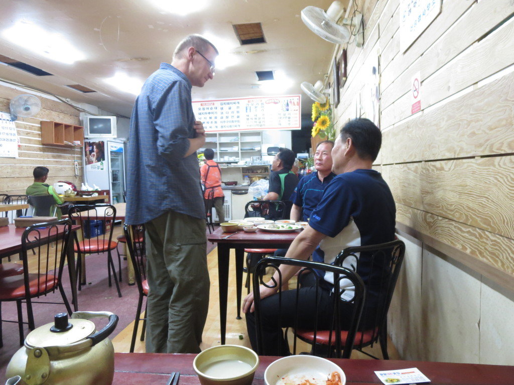 Inside the restaurant at Chundai Makgeoli