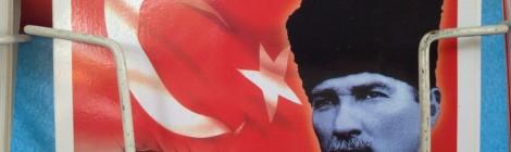A postcard of Ataturk near Chora Church