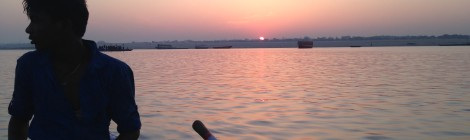 Oarsman on the Ganges At Dawn