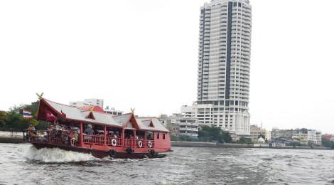 """A """"House"""" Boat Navigates the Chao Phraya"""